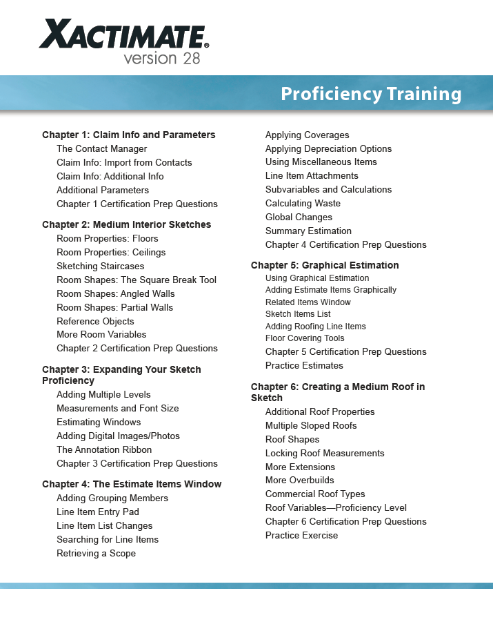 Xact 28 Proficiency on line photo of pdf