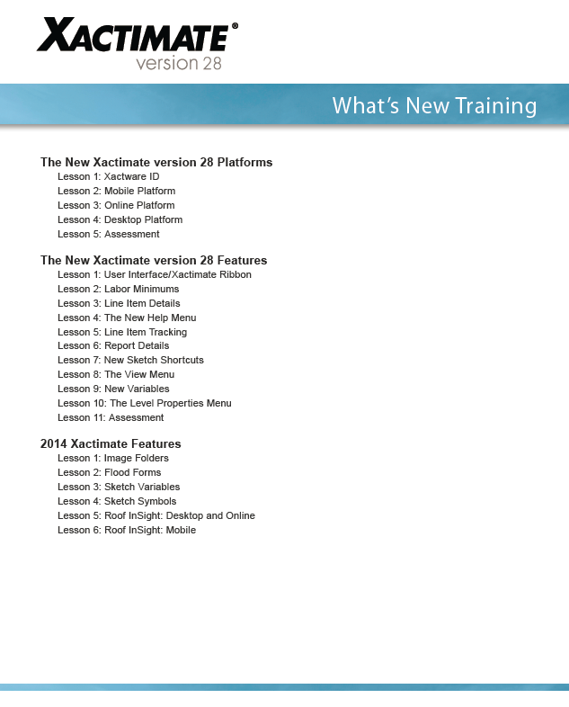 AdjusterTrainer com » Xactimate What's New Training
